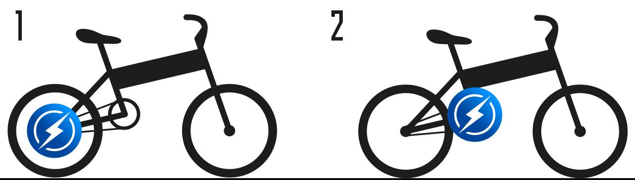 Электровелосипед с задним приводом