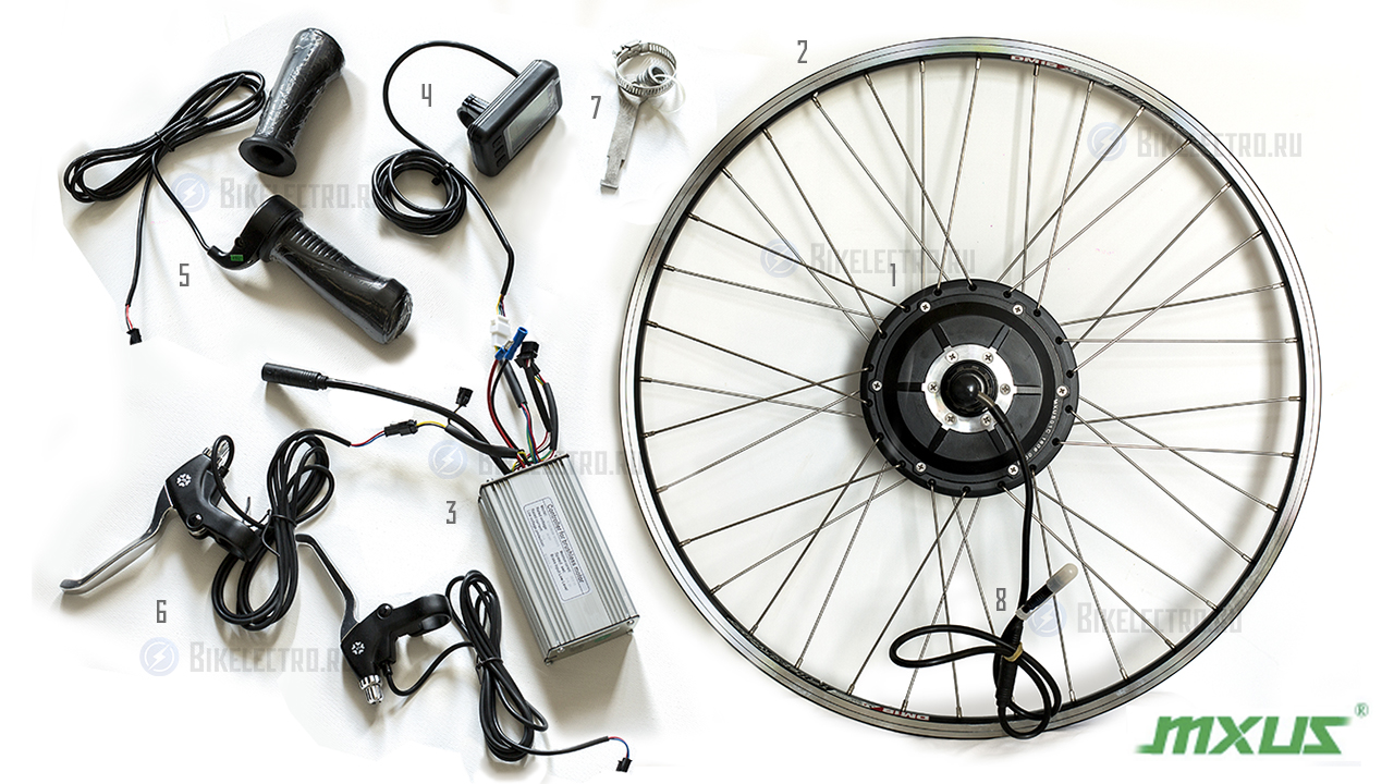 схема управления моторколесом